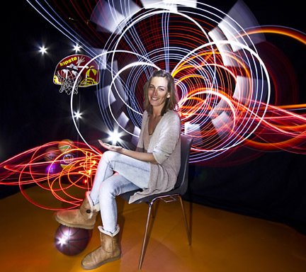 Light painting, animation photo, light graff