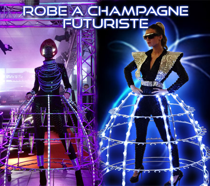 Robe à Champagne LED